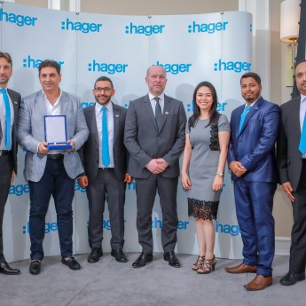 Our Operation Manager Receiving Award Hager Group for outstanding sales achievements for the year of 2017